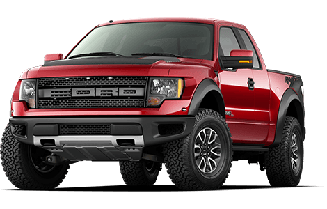 Red Ford F-150 Raptor